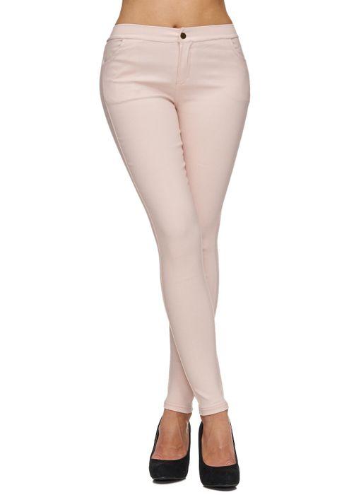 Damen Treggings Basic Hose Jeggings Jeans Hüfthose D1783 – Bild 5