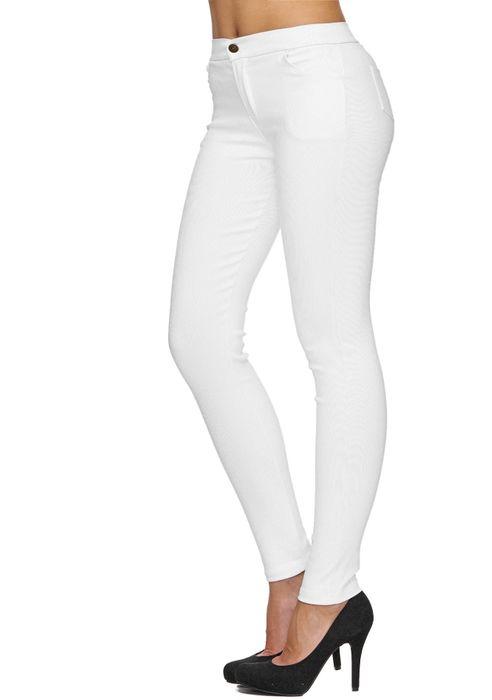 Damen Treggings Basic Hose Jeggings Jeans Hüfthose D1783 – Bild 9