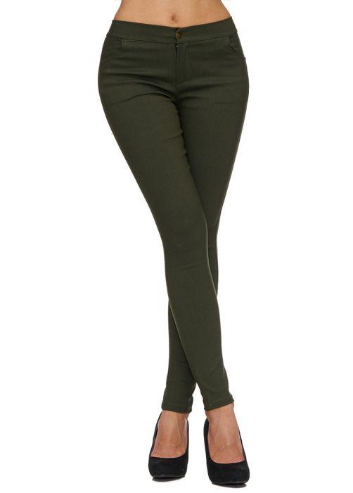 Damen Treggings Basic Hose Jeggings Jeans Hüfthose D1783 – Bild 17