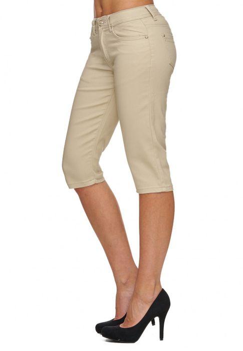 Damen Shorts Sommer Capri Hose 3/4 Länge D1784 – Bild 14
