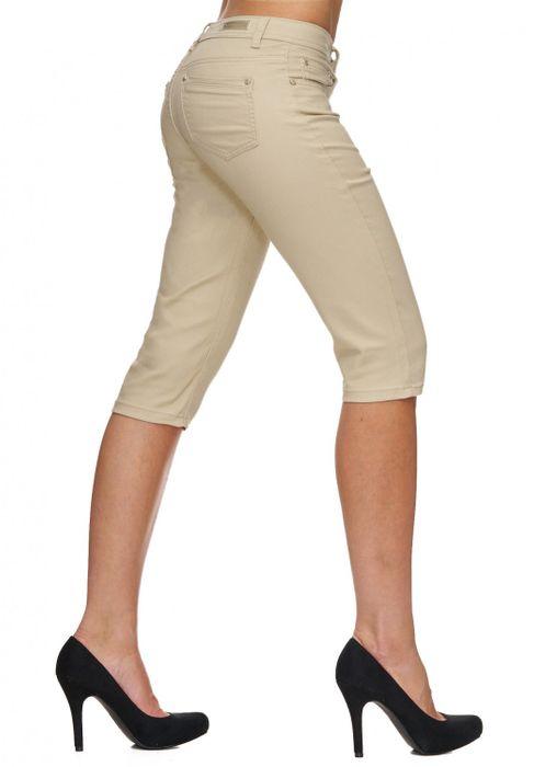 Damen Shorts Sommer Capri Hose 3/4 Länge D1784 – Bild 15