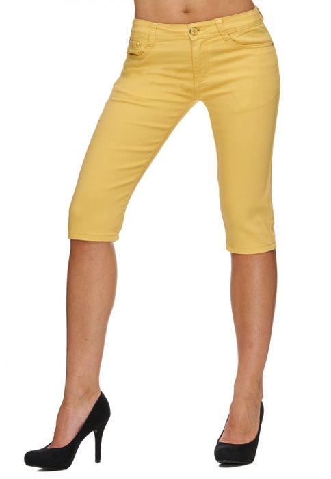 Damen Shorts Sommer Capri Hose 3/4 Länge D1784 – Bild 20