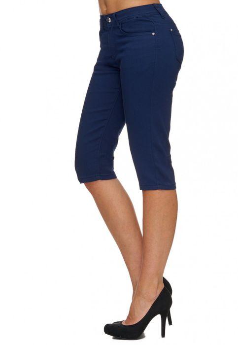 Damen Shorts Sommer Capri Hose 3/4 Länge D1784 – Bild 22