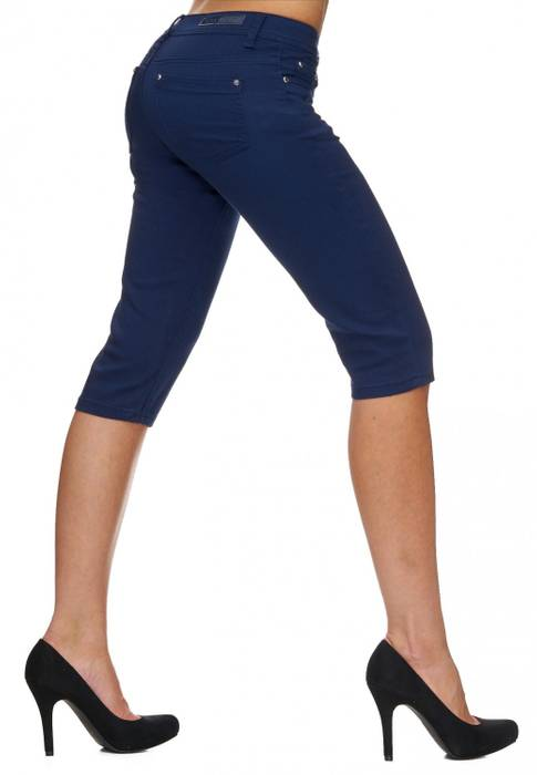Damen Shorts Sommer Capri Hose 3/4 Länge D1784 – Bild 23