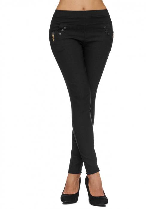 Damen Treggings | (Slim Fit) Stretch-Hose im Biker-Look mit leichtem Shaping-Effekt, Regular Waist | D1791 in Markenqualität – Bild 14