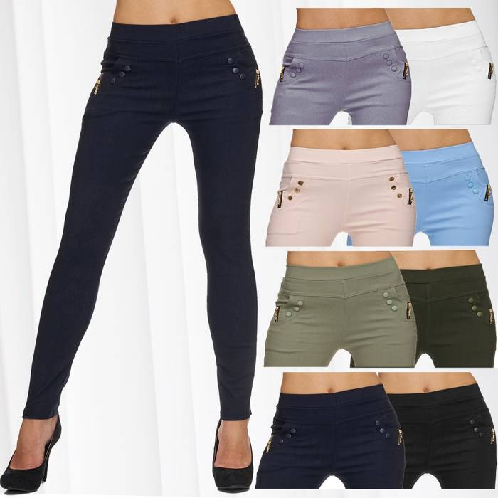 Damen High Waist Hose BIANCA !