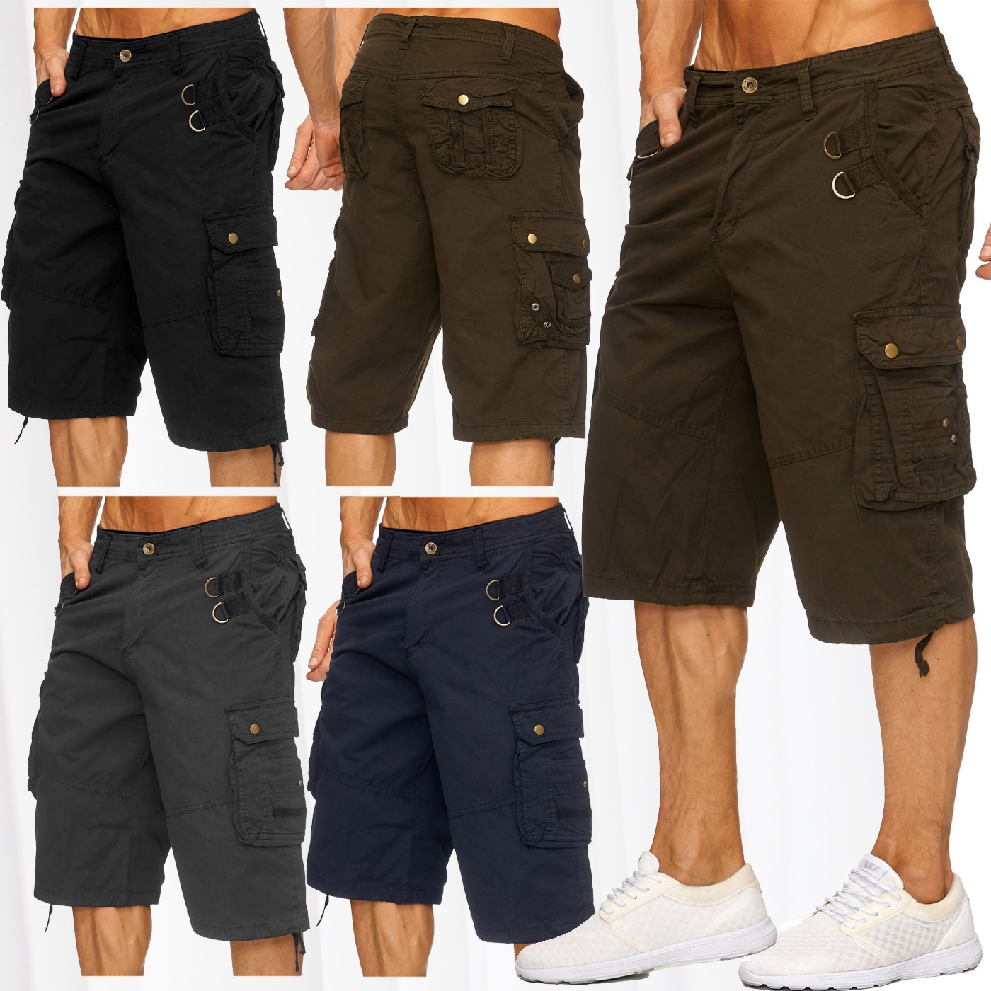 herren cargo capri shorts tasche 2017 summer jeans bermuda kurze hose short hot ebay. Black Bedroom Furniture Sets. Home Design Ideas