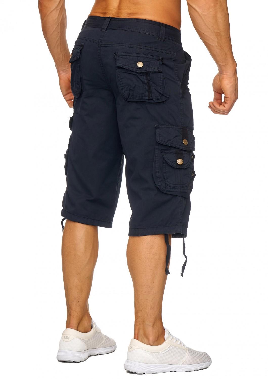 herren cargo capri shorts 2017 sommer arbeitshose jeans. Black Bedroom Furniture Sets. Home Design Ideas