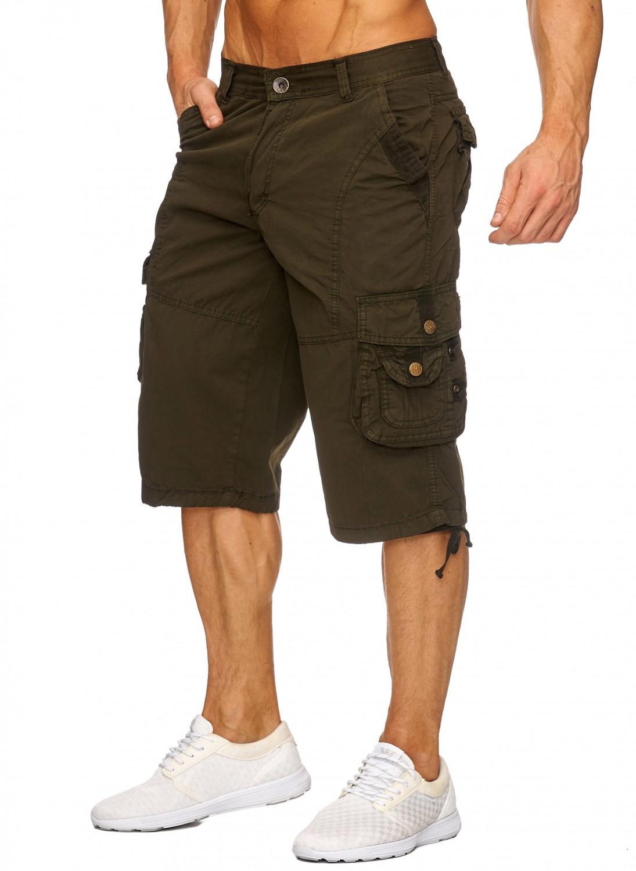 men 39 s cargo capri shorts 2017 summer work trousers jeans. Black Bedroom Furniture Sets. Home Design Ideas