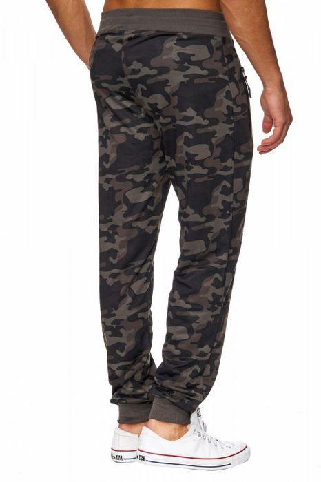 Herren Jogging Hose Camouflage Sport Sweat Pants Stretch Bündchen H1822 – Bild 4