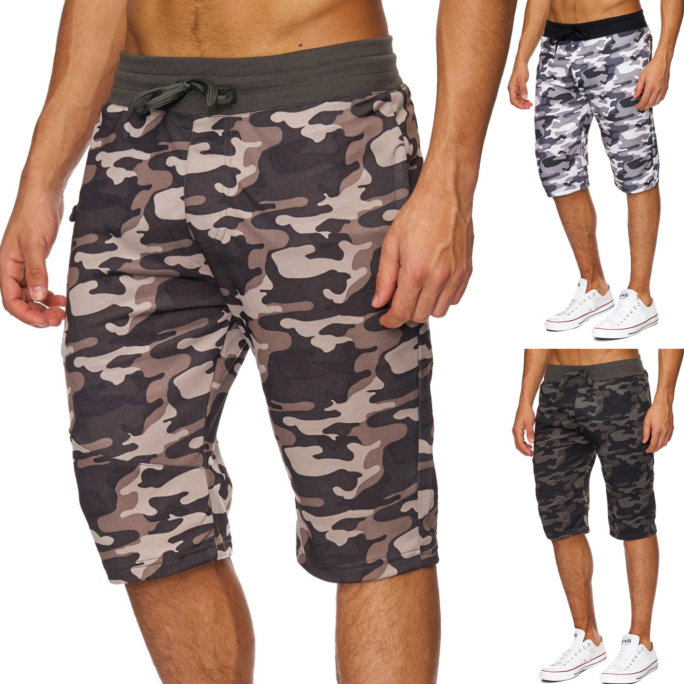 herren camouflage fitness kurz milit r shorts army hose. Black Bedroom Furniture Sets. Home Design Ideas