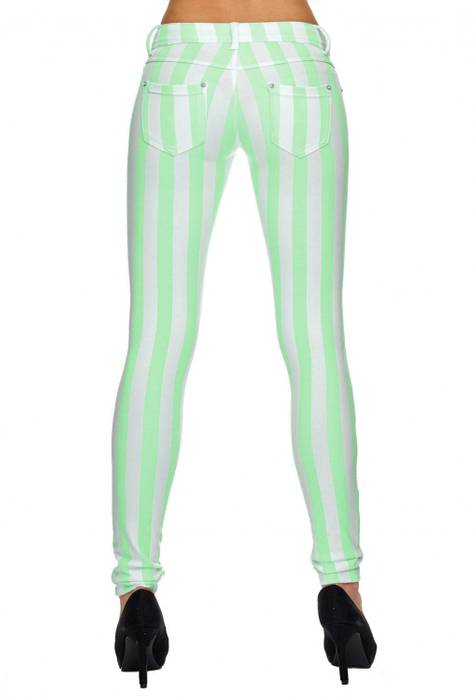 Damen Treggings | (Slim Fit) Cotton Candy Pant gestreift in Pastell Bonbon-Farben - Regular Waist mit leichtem Shaping-Effekt | D1834 in Markenqualität – Bild 8