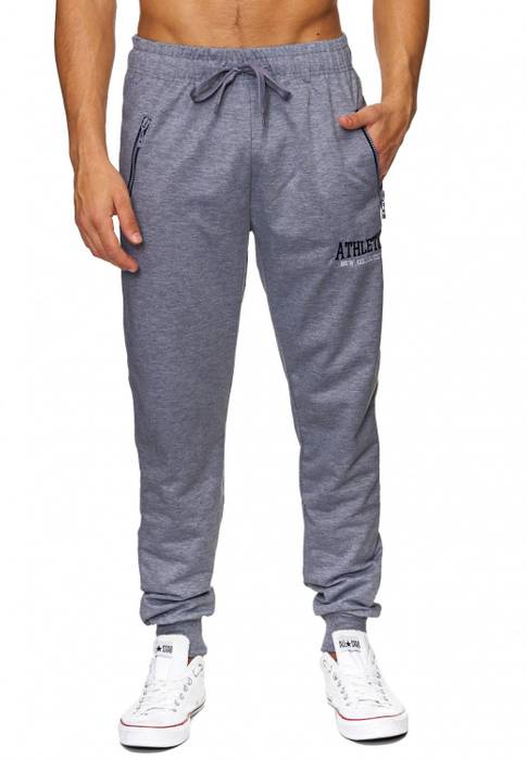Herren Jogging-Hose | (Comfort Fit) sportliche GYM Fitness Freizeit Trainings Sweat Pant mit dehnbaren Bündchen am Beinabschluss | H1837 von Max Men – Bild 8