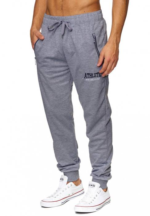 Herren Jogging-Hose | (Comfort Fit) sportliche GYM Fitness Freizeit Trainings Sweat Pant mit dehnbaren Bündchen am Beinabschluss | H1837 von Max Men – Bild 9
