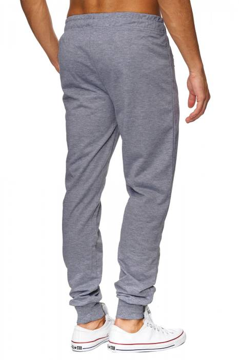 Herren Jogging-Hose | (Comfort Fit) sportliche GYM Fitness Freizeit Trainings Sweat Pant mit dehnbaren Bündchen am Beinabschluss | H1837 von Max Men – Bild 10