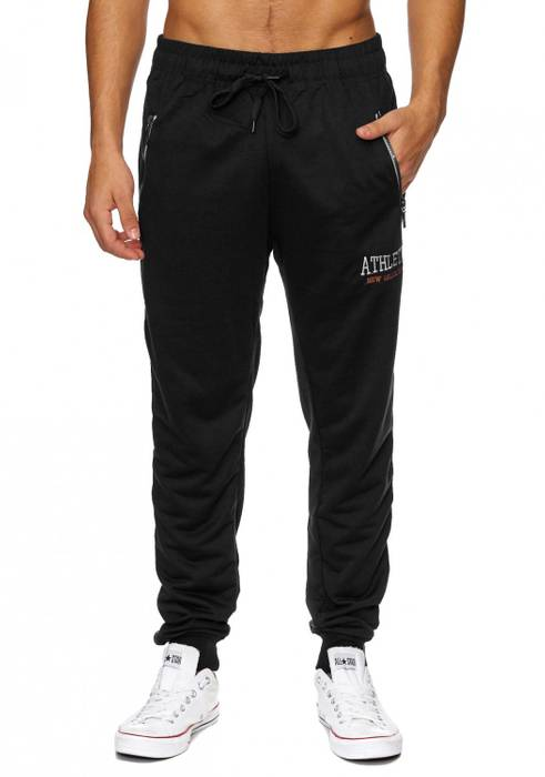 Herren Jogging-Hose | (Comfort Fit) sportliche GYM Fitness Freizeit Trainings Sweat Pant mit dehnbaren Bündchen am Beinabschluss | H1837 von Max Men – Bild 11