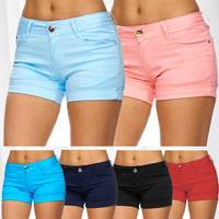 Damen Shorts Kurze Sommer Hüfthose Hot Pants D1841