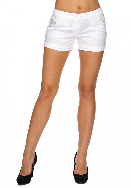 Damen Stoff shorts Business Blogger Hotpants kurze Hose Elegant Chino Festival
