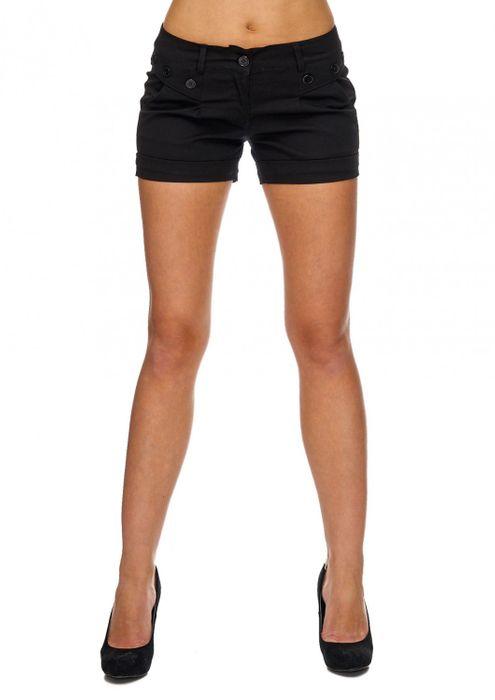 Damen Shorts Kurze Sommer Hüfthose Farbige Hot Pants D1842 – Bild 5