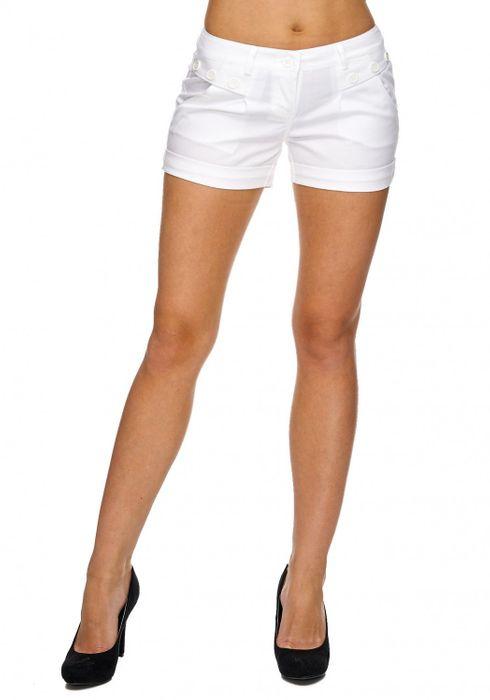 Damen Shorts Kurze Sommer Hüfthose Farbige Hot Pants D1842 – Bild 11