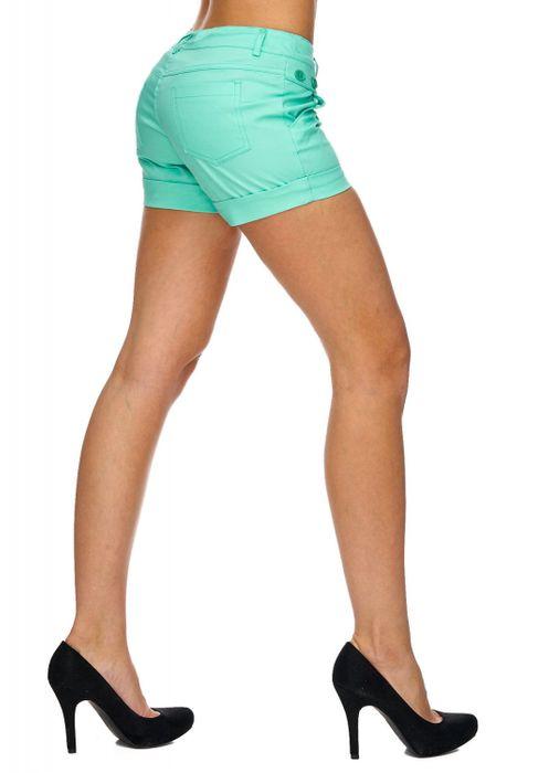 Damen Shorts Kurze Sommer Hüfthose Farbige Hot Pants D1842 – Bild 18