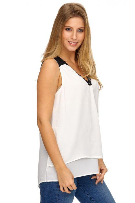 cheap for discount c98e9 96151 Damen Bluse ohne Ärmel mit Pailletten LIANA