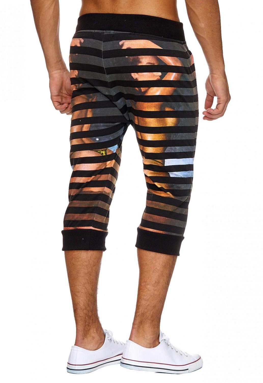 021e5ec4e759 Herren Jogginghose Sweat Hose kurze Shorts 3 4 Sport Print Druck ...