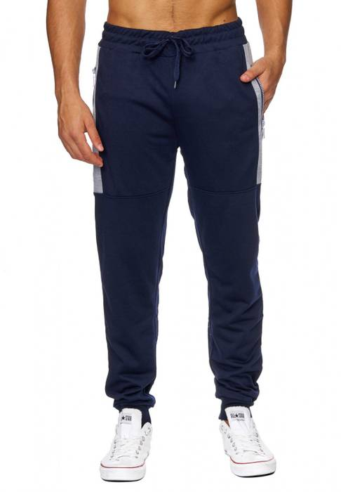 Herren Jogging-Hose | (Comfort Fit) sportliche GYM Fitness Freizeit Trainings Sweat Pant mit dehnbaren Bündchen am Beinabschluss | H1849 von Max Men – Bild 2
