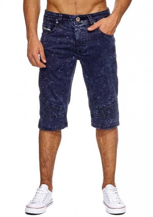 Herren Jeans-Shorts | (Regular Fit) Bermuda Chino im Biker-Look, Acid Washed, Bermuda im Used Look | H1875 von Jaylvis – Bild 2