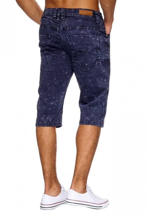 Herren Jeans-Shorts | (Regular Fit) Bermuda Chino im Biker-Look, Acid Washed, Bermuda im Used Look | H1875 von Jaylvis – Bild 4
