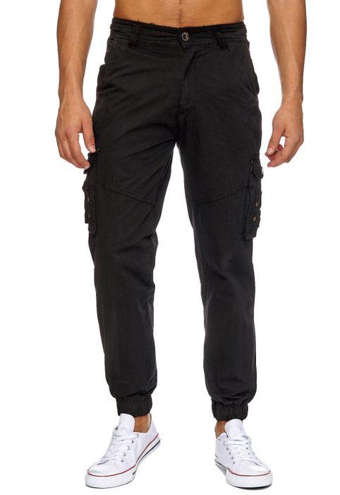 Herren Cargo Hose Beintaschen Freizeit Jeans Jogger Hose H1885 – Bild 8