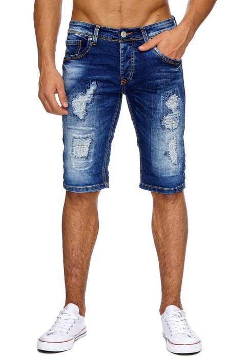 Herren Jeans Shorts Ripped Hose Used Bermuda Destroyed H1890 – Bild 2