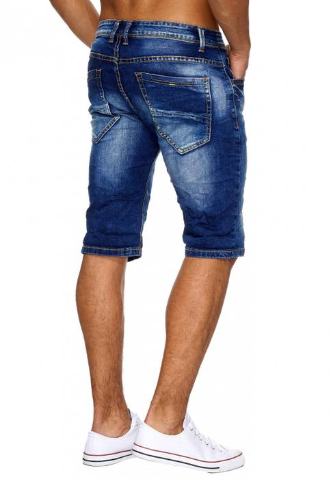 Herren Jeans Shorts Ripped Hose Used Bermuda Destroyed H1890 – Bild 4