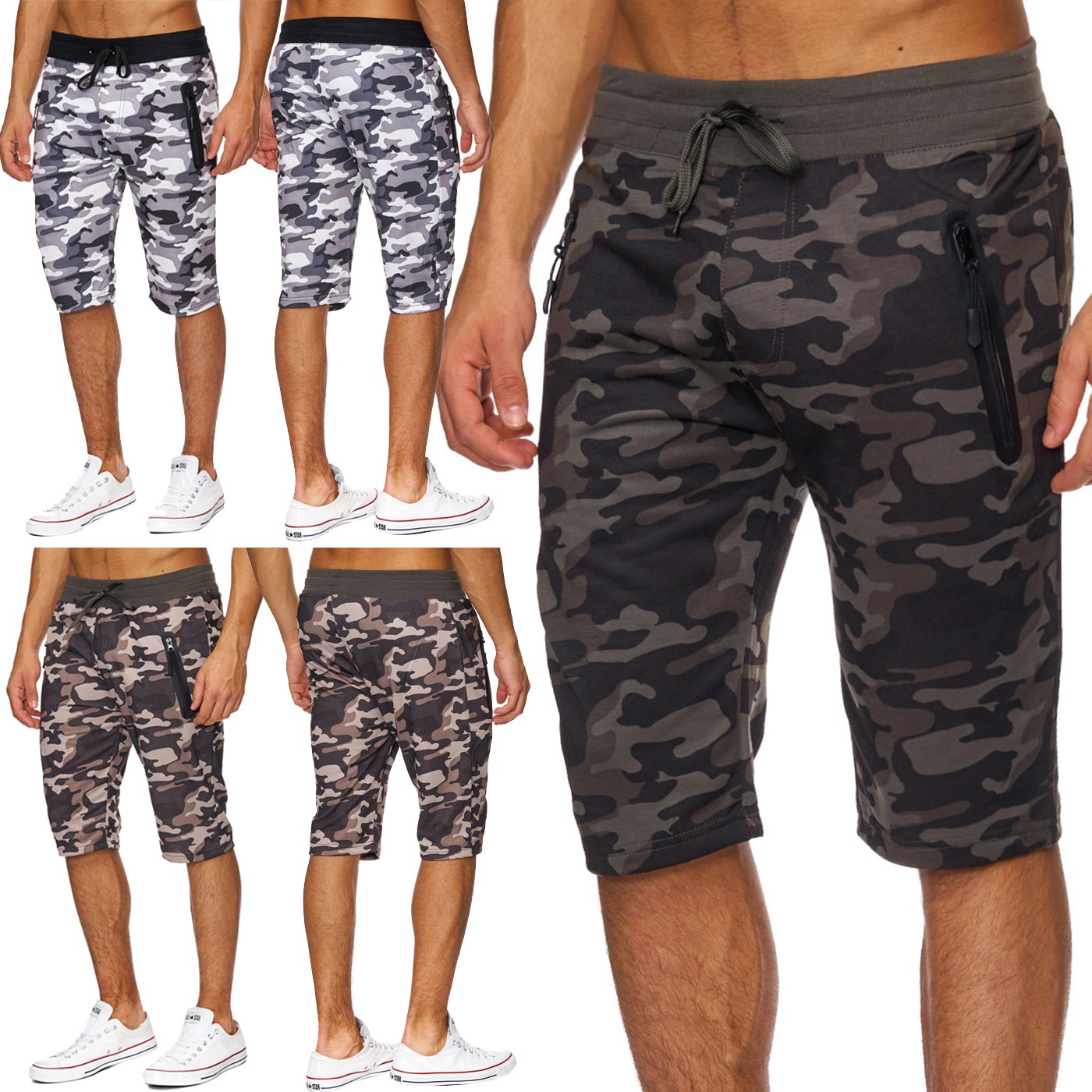 herren camouflage shorts kurz milit r sweathose army sport. Black Bedroom Furniture Sets. Home Design Ideas