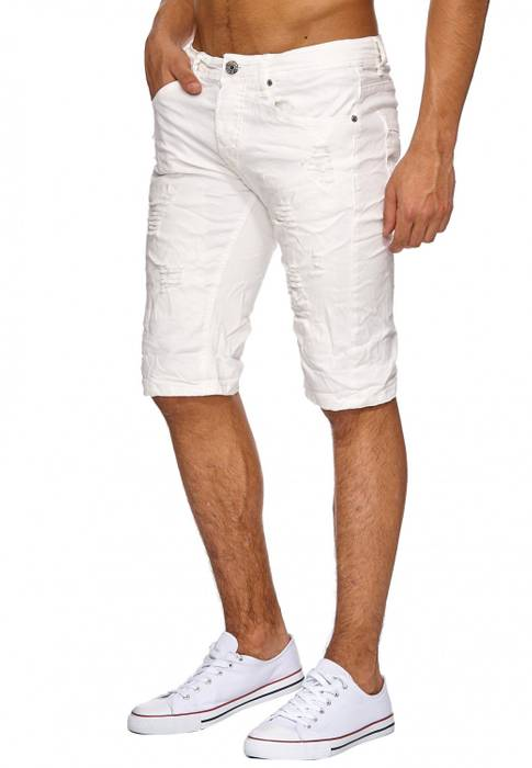 Herren Jeans Shorts Ripped Bermuda 3/4 Hose Destroyed H1909 – Bild 3