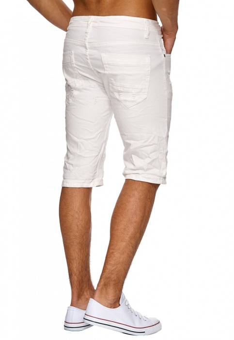 Herren Jeans Shorts Ripped Bermuda 3/4 Hose Destroyed H1909 – Bild 4
