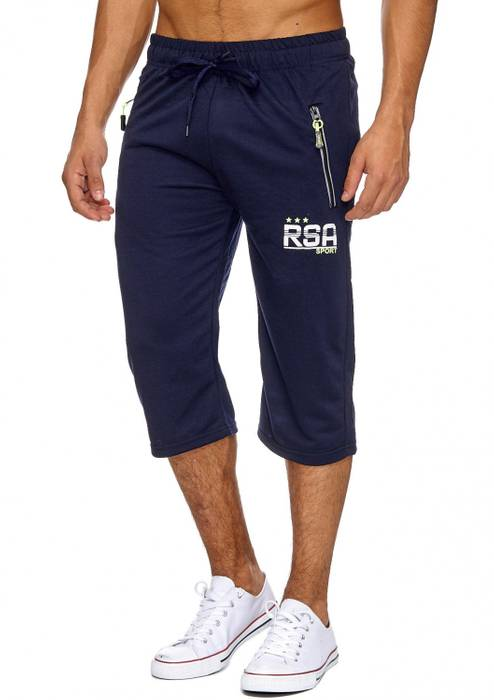 Max Men Herren Sweat Shorts Sport Capri Bermuda 7/8 Pants H1911 – Bild 2