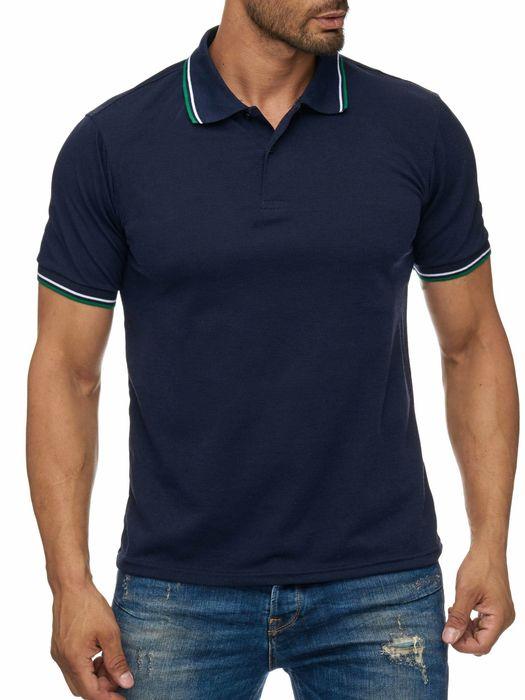 Uni Poloshirt mit Kragen Basic COLLEGE FEVER