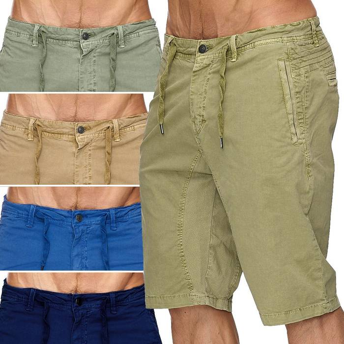 Max Men Herren Bermuda Shorts Stretch 3/4 Chino Hose H1929 – Bild 1