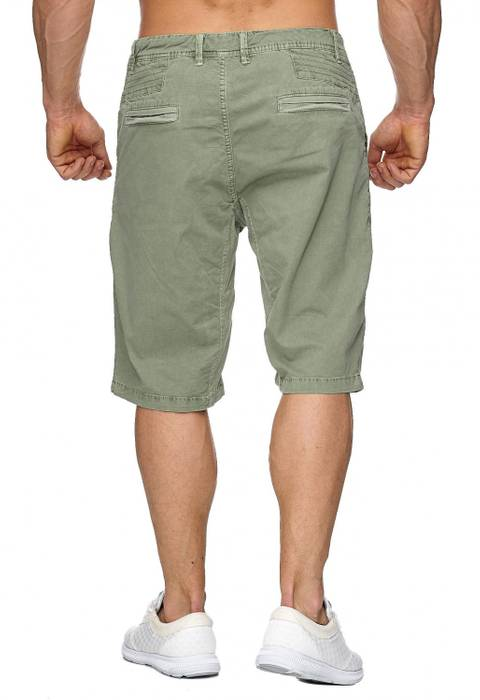 Max Men Herren Bermuda Shorts Stretch 3/4 Chino Hose H1929 – Bild 6