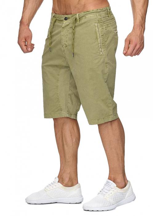 Max Men Herren Bermuda Shorts Stretch 3/4 Chino Hose H1929 – Bild 10
