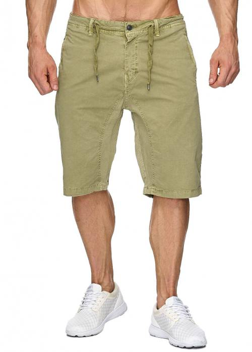 Max Men Herren Bermuda Shorts Stretch 3/4 Chino Hose H1929 – Bild 8