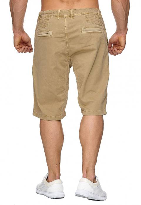Max Men Herren Bermuda Shorts Stretch 3/4 Chino Hose H1929 – Bild 15