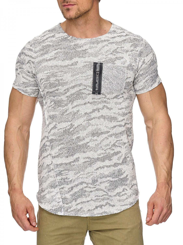 herren shirt pachted oversize longshirt meliert melange longsleeve slim struktur ebay. Black Bedroom Furniture Sets. Home Design Ideas