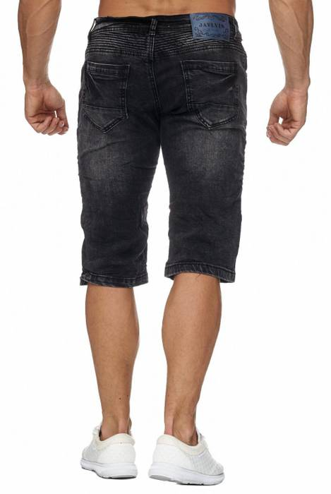 Jaylvis Herren Jeans Shorts Denim Biker Bermuda Destroyed Walkshort H1942 – Bild 4