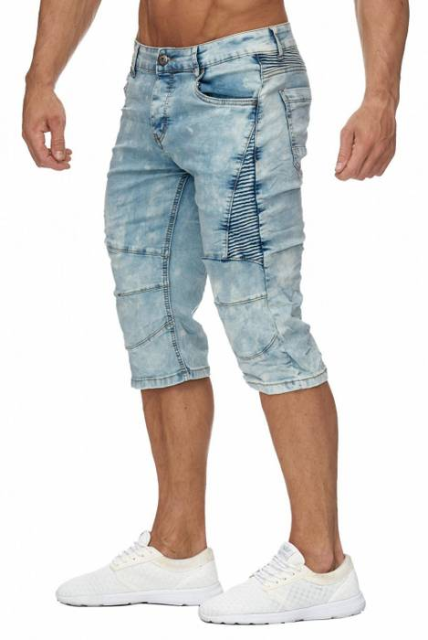 Jaylvis Herren Jeans Shorts Denim Biker Bermuda Destroyed Walkshort H1942 – Bild 6