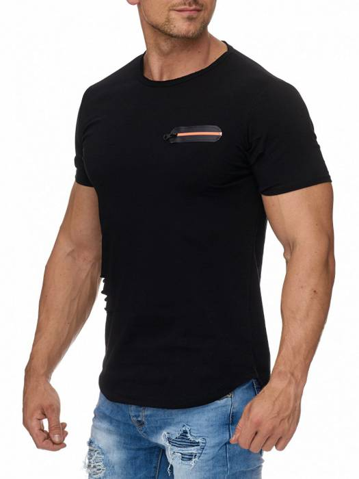Herren T Shirt Ripped Oberteil Sweatshirt Destroyed H1945 – Bild 3