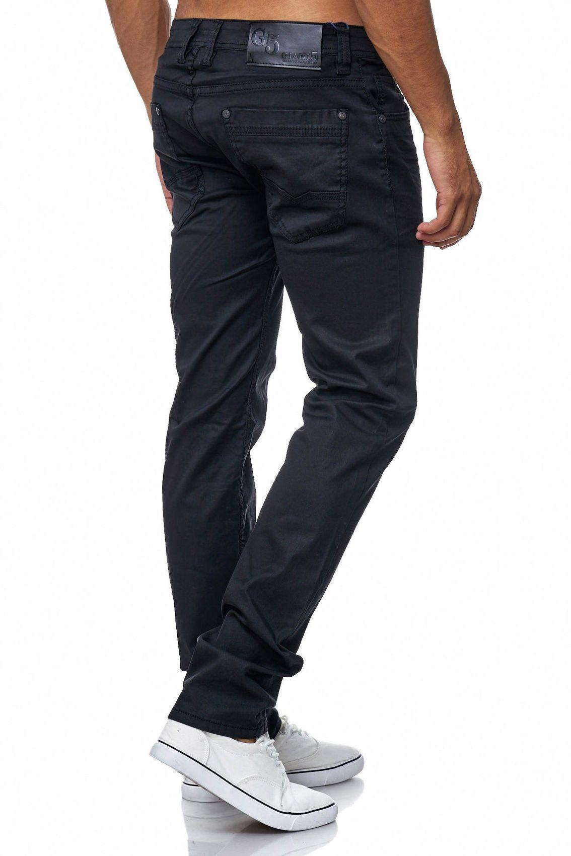 herren hose schwarz beschichtet slim fit coated jeans club all black edel wow ebay. Black Bedroom Furniture Sets. Home Design Ideas