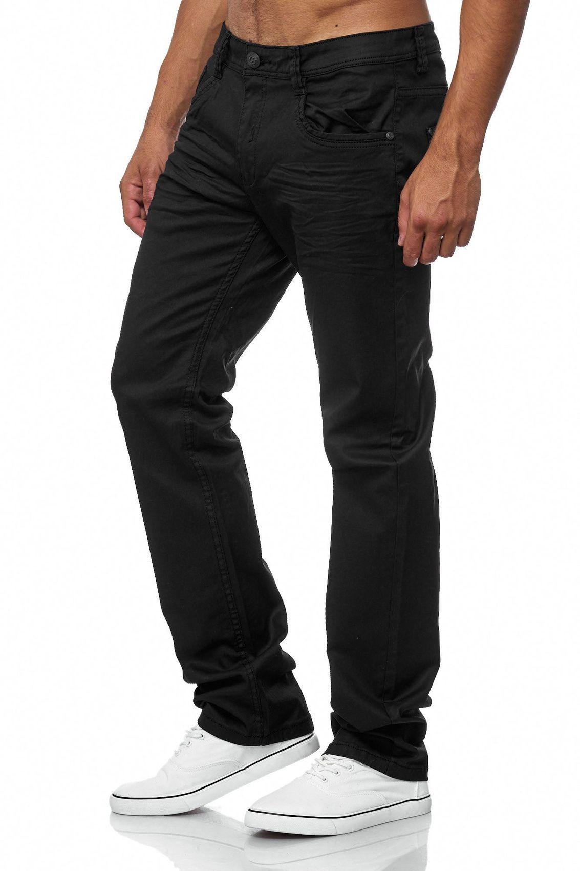 herren hose beschichtet schwarz tapered jeans coated regular fit big size wow ebay. Black Bedroom Furniture Sets. Home Design Ideas