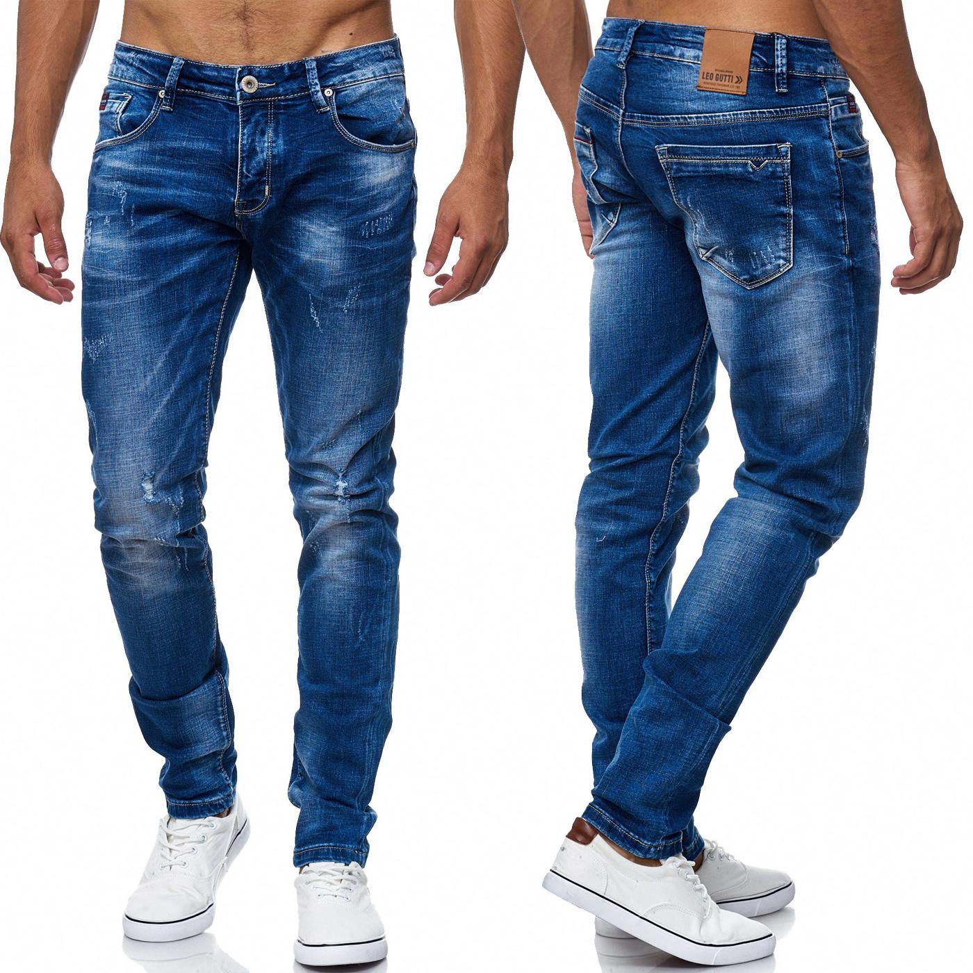 herren jeans destroyed ripped zerrissen used l cher risse. Black Bedroom Furniture Sets. Home Design Ideas